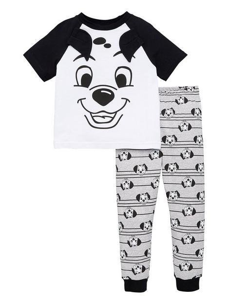 disney-101-dalmatians-boysnbsp101-dalmatians-3d-ears-raglan-pjs-multinbsp