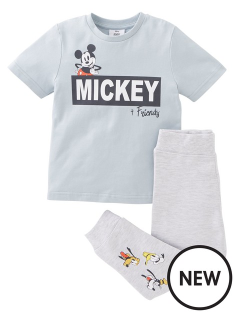 mickey-mouse-boys-mickey-mouse-2-piece-badges-t-shirt-and-legging-set-greynbsp