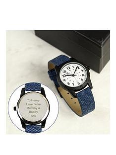 personalised-kids-blue-football-time-teacher-watch
