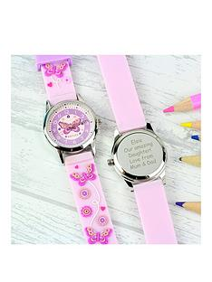 personalised-kids-pink-watch-with-presentation-box