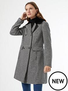 dorothy-perkins-dolly-dogtooth-coat-black