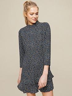 dorothy-perkins-ditsy-print-highnbspneck-mini-dress-blacknbsp