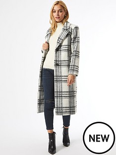 dorothy-perkins-petite-checknbspsingle-breasted-coat-whiteblack