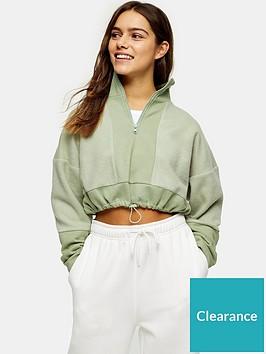 topshop-petitenbspzip-neck-funnel-sweatshirt-sage