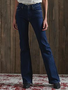 superdry-mid-rise-slim-flare-jeans-mid-wash-blue