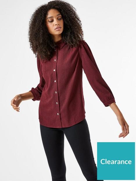 dorothy-perkins-plain-fochette-shirt-winenbsp