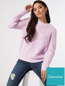 dorothy-perkins-petite-sustainable-pointelle-cable-jumper-lilac