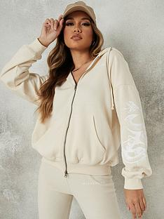 missguided-missguided-double-zip-rib-hem-hoody-missguided-cream