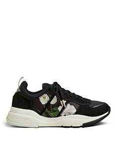 ted-baker-elderflower-chunky-trainer-black