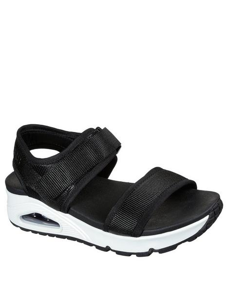 skechers-uno-webbing-double-band-wedge-sandal-black