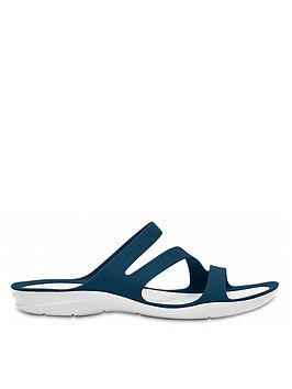 crocs-swiftwater-flat-sandal--nbspnavywhite