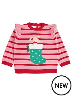 mamas-papas-baby-girls-stripe-christmas-jumper-pink