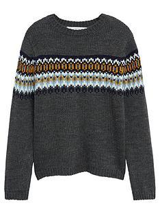 mango-boys-fairisle-knitted-jumper-charcoal