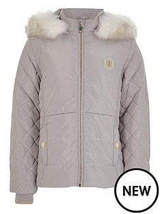 river-island-girls-quilted-hooded-coat--nbspgrey