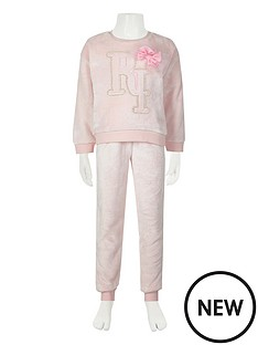 river-island-girls-fleece-pyjama-set--nbsppink
