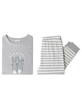 mango-girls-rabbit-pyjamas-grey