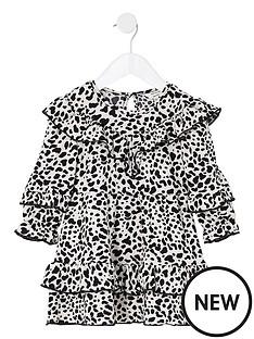 river-island-mini-mini-girls-leopard-frill-dress--nbspblack