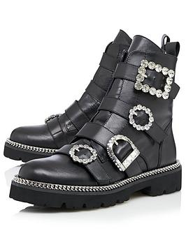 dune-london-pagola-multi-buckle-leather-ankle-boot-black