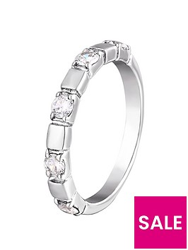 the-love-silver-collection-sterling-silver-five-stone-cubic-zirconia-band-ring