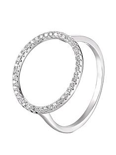 the-love-silver-collection-sterling-silver-open-circle-cubic-zirconia-ring
