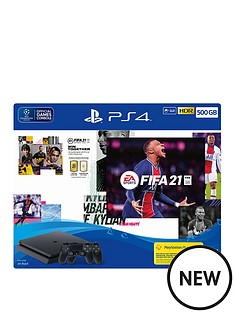 playstation-4-black-500gb-console-with-fifa-21-and-additional-dualshock-controller