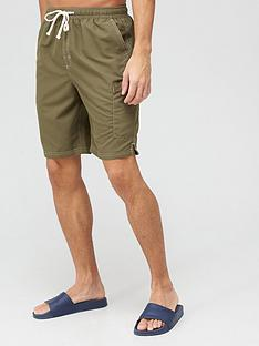very-man-contrast-stitch-longer-swim-short-khaki