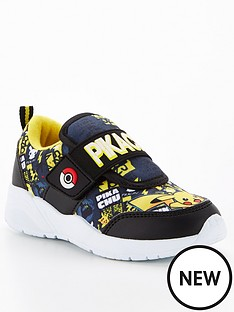 pokemon-boys-pokemon-pikachu-velcro-trainers-blackyellow