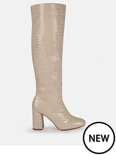 missguided-missguided-tubular-block-heel-knee-high-boots-cream