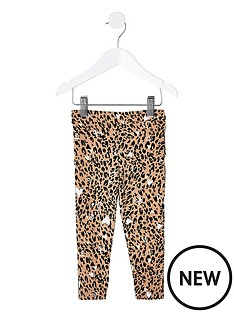river-island-mini-mini-girls-leopard-print-leggingnbsp--brown