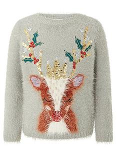 monsoon-girls-christmas-reindeer-knitted-jumper-grey