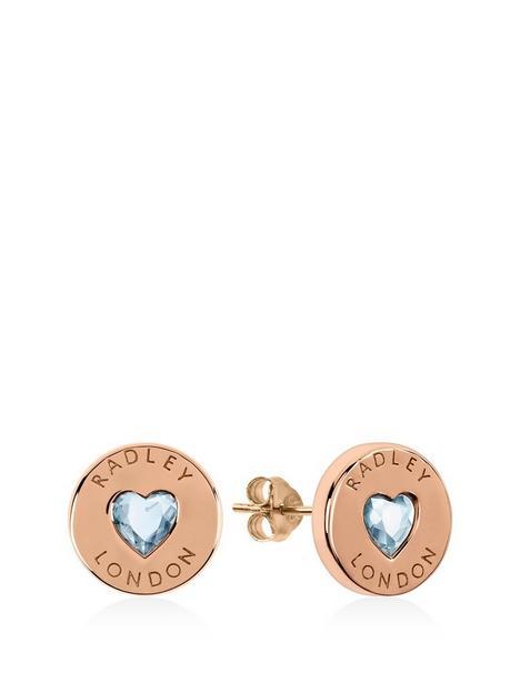 radley-rose-gold-plated-sterling-silver-crystal-heart-stud-ladies-earrings