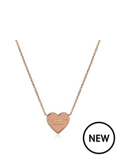 radley-radley-rose-gold-plated-sterling-silver-heart-pendant-ladies-necklace