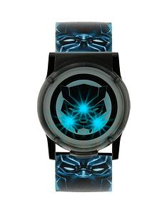 disney-black-panther-blue-and-black-light-up-dial-printed-strap-kids-watch