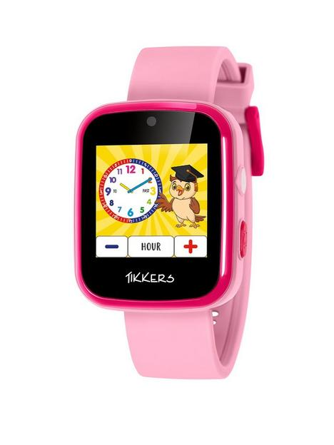 tikkers-tikkers-full-display-pink-silicone-strap-kids-smart-watch