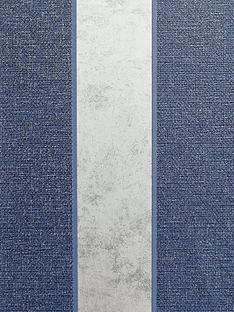 arthouse-calico-stripe-navy-wallpaper