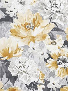 arthouse-aubrey-floral-ochre-wallpaper