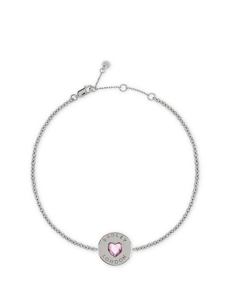 radley-radley-sterling-silver-pink-crystal-heart-ladies-bracelet