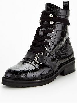 allsaints-donita-croc-embossed-leather-biker-boots-black