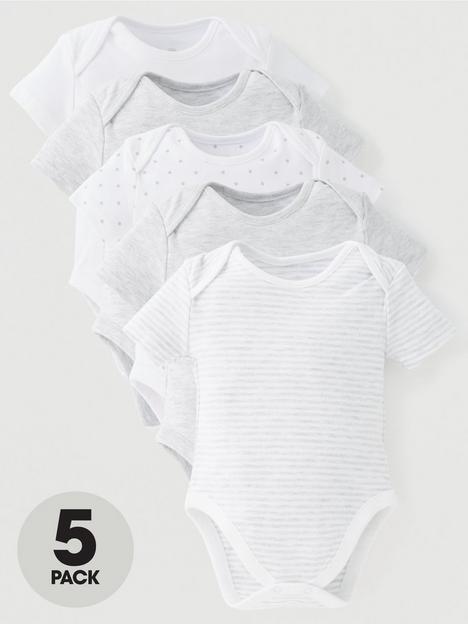 mini-v-by-very-baby-unisex-5-pack-short-sleeve-essentialsnbspmix-bodysuits-grey