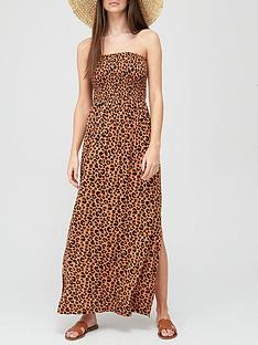 v-by-very-shirred-bandeau-maxi-dress-animal-printnbsp