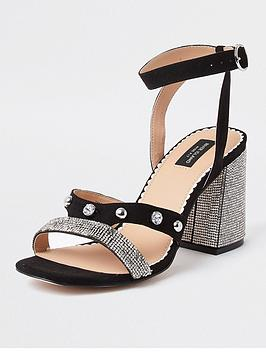 river-island-wide-fit-heatseal-block-heel-sandal-black