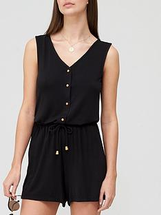 v-by-very-button-through-jersey-swing-co-ord-top-blacknbsp
