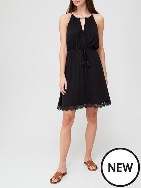 v-by-very-lace-trim-jersey-mini-dress-blacknbsp