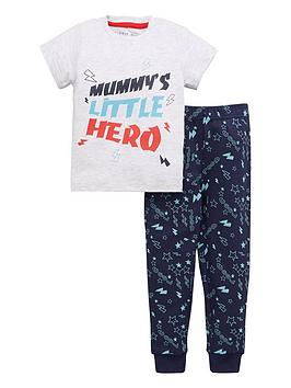 mini-v-by-very-boys-little-hero-single-pyjamanbspset-grey