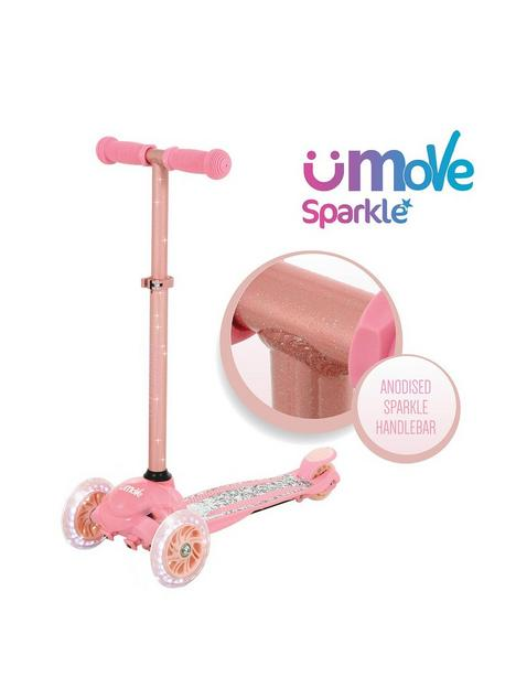 u-move-mini-flex-glitter-tilt-scooter-rose-gold