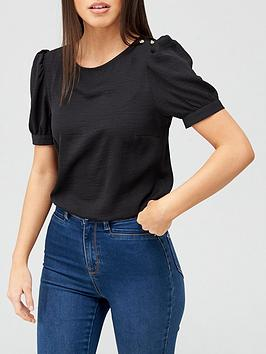 v-by-very-value-button-shoulder-shell-top-black