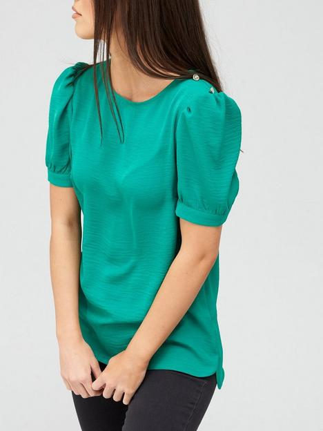 v-by-very-value-button-shoulder-shell-top-green