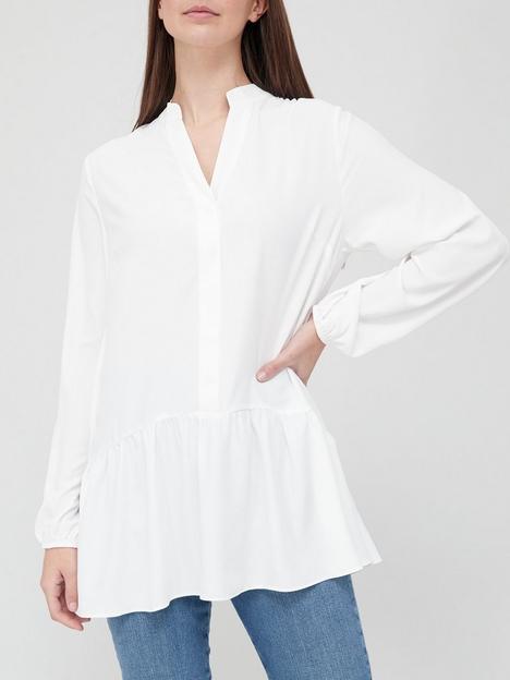 v-by-very-longline-notch-neck-peplum-blouse-ivory