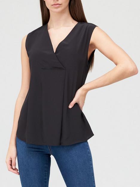 v-by-very-value-sleeveless-notch-neck-top-black