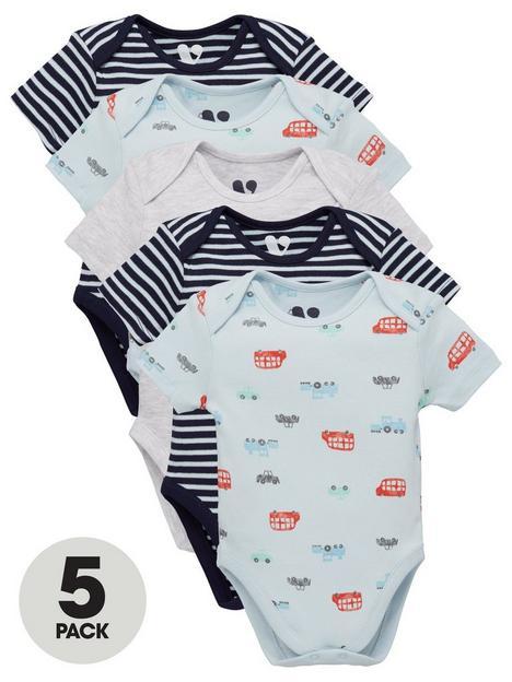 mini-v-by-very-baby-boys-5-pack-transport-bodysuits-multi